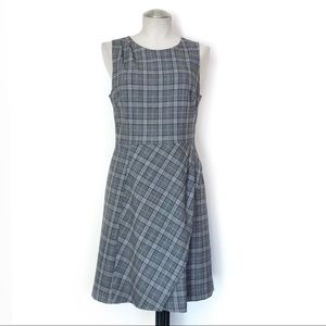 Banana Republic Plaid Work Dress Size 8